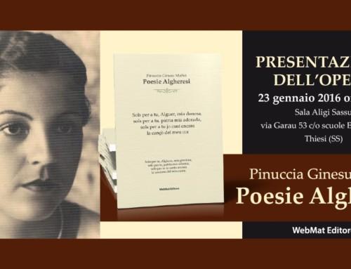 Thiesi – presentazione poesie Pinuccia Ginesu Maffei